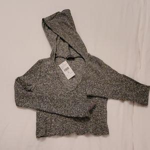 Cropped top hoodie.